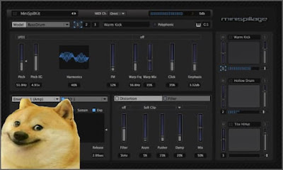 minispillage drum synthesizer