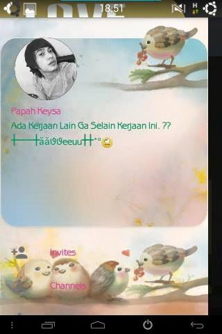 BBM Love Bird terbaru apk