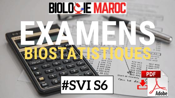 EXAMENS Corrigés de Biostatistique SVI S6 pdf