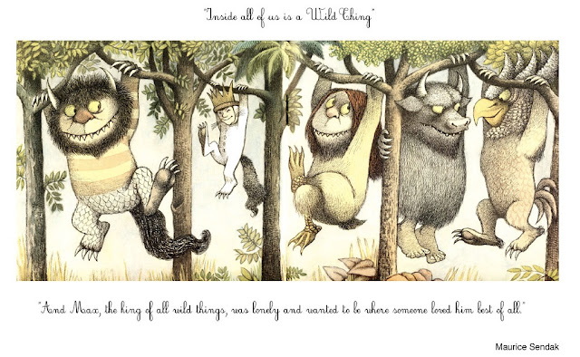 Image: Inside all of us there is a wild thing, Maurice Sendak | by Andrea Rodríguez Pabón on Flickr