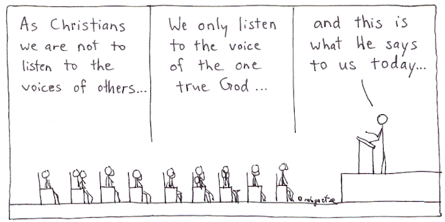 one true voice cartoon by rob g