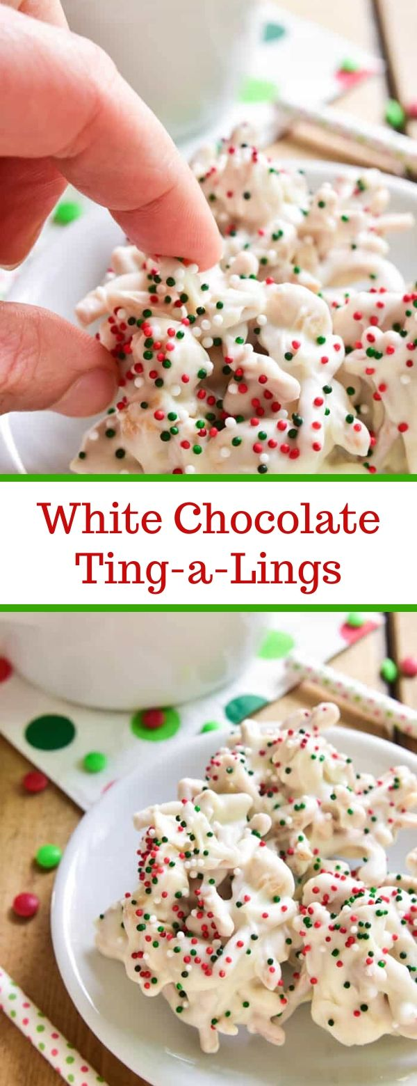 White Chocolate Ting-a-Lings #chocolate #christmas