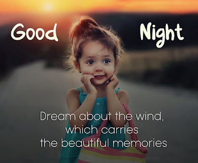 cute good night image with baby girl wallpaper