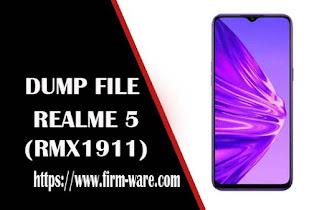 Realme 5 RMX1911 eMMC Dump File Firmware Tested