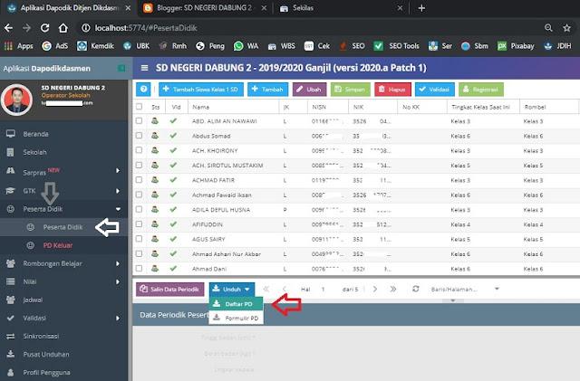 Cara Mengurutkan Data Siswa Menurut Rombel Hasil Download di Aplikasi Dapodik  SD:  Cara Mengurutkan Data Siswa Menurut Rombel Hasil Download di Aplikasi Dapodik 2020.a