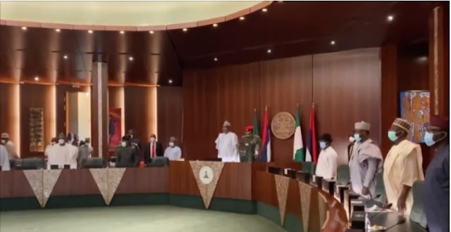 APC NEC meeting commences with Buhari in attendance