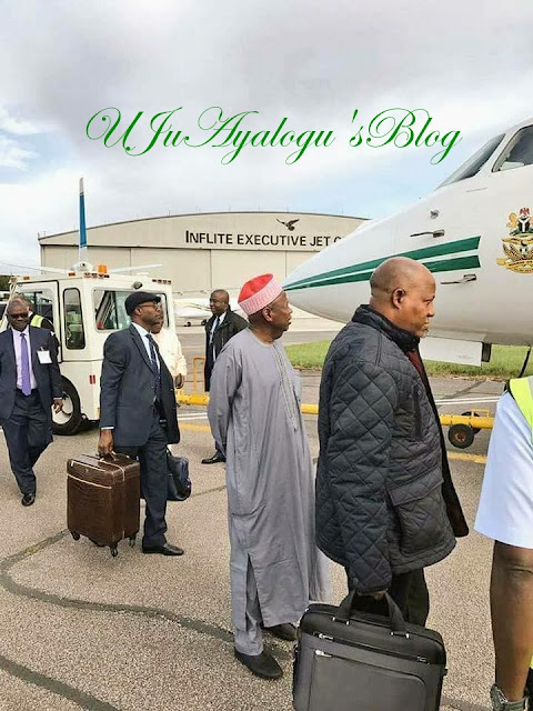 Photo: Governors Depart UK After Visit To President Buhari