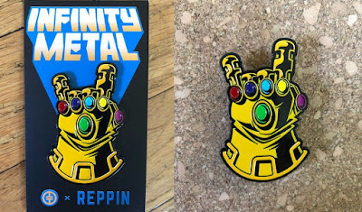 "Avengers: Infinity War ""Infinity Metal"" Infinity Gauntlet Enamel Pin by Tracy Tubera x Reppin Pins"