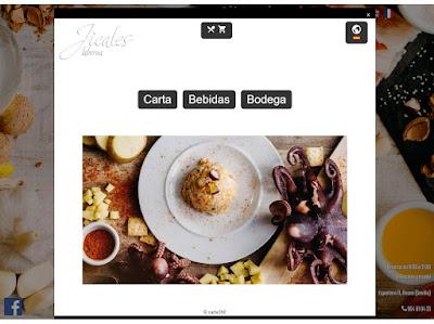 Carta digital en web de restaurante