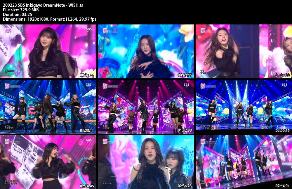 Inkigayo , DreamNote , WISH, 1080p , Kpop, 2020
