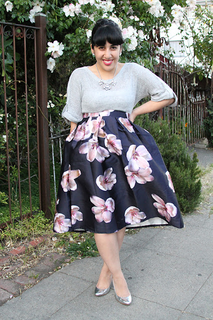 Chicwish Peach Blossom Skirt