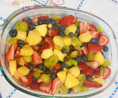 Fruit Salad with Ginger dressing
