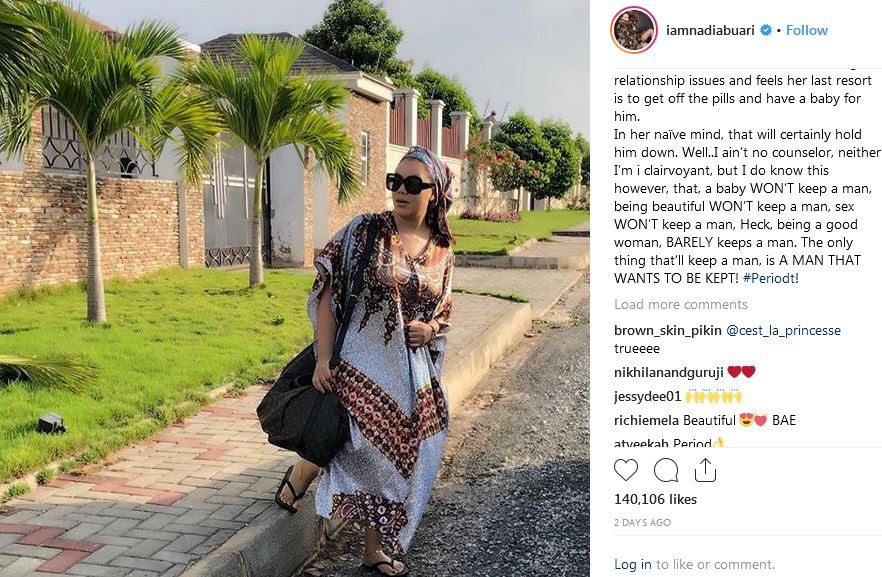 Comments by the award winning Ghanaian actress Nadia Buari Captured