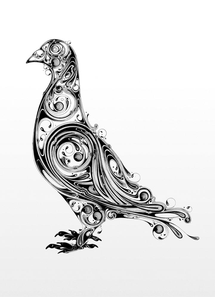 astelvio: Mesmerizing Animals Emerge from Elaborate Ink