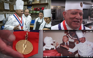 composite picture of Culinary Hall of Fame Executive Chef Jess Barbosa at the Marriott Muehlebach Tower in Kansas City.