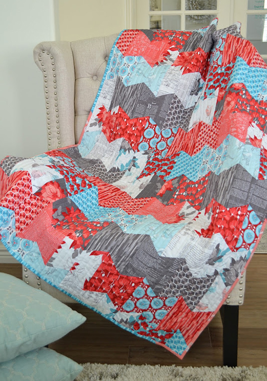 Half Hexie Fly Away Quilt designed by Sachiko of Tea Rose Home