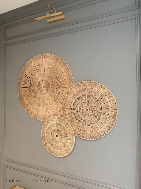 Large round wicker art