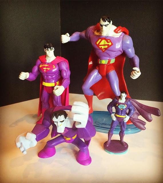Purple Bizarro figures