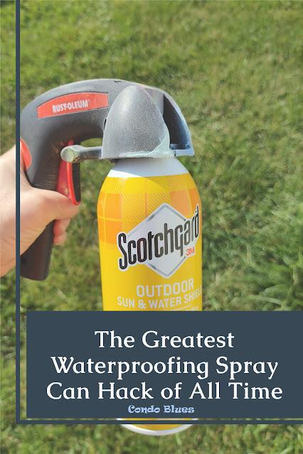 how to spray scotchguard waterproofing spray evenly