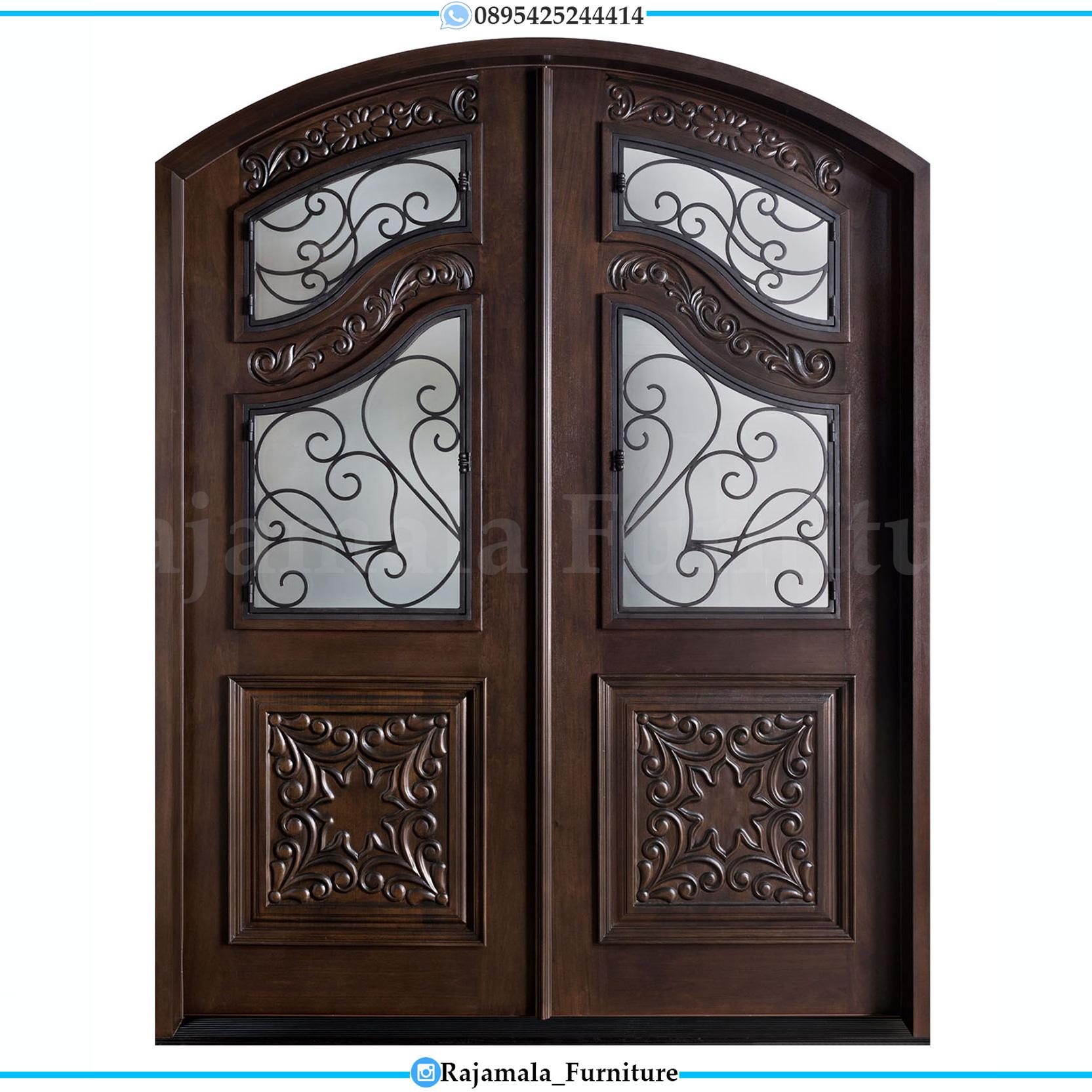Pintu Rumah Mewah Kupu Tarung Natural Jati Luxury Carving RM-0053