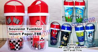 Tumbler Insert Paper T88 merupakan salah satu Model tumbler insert paper