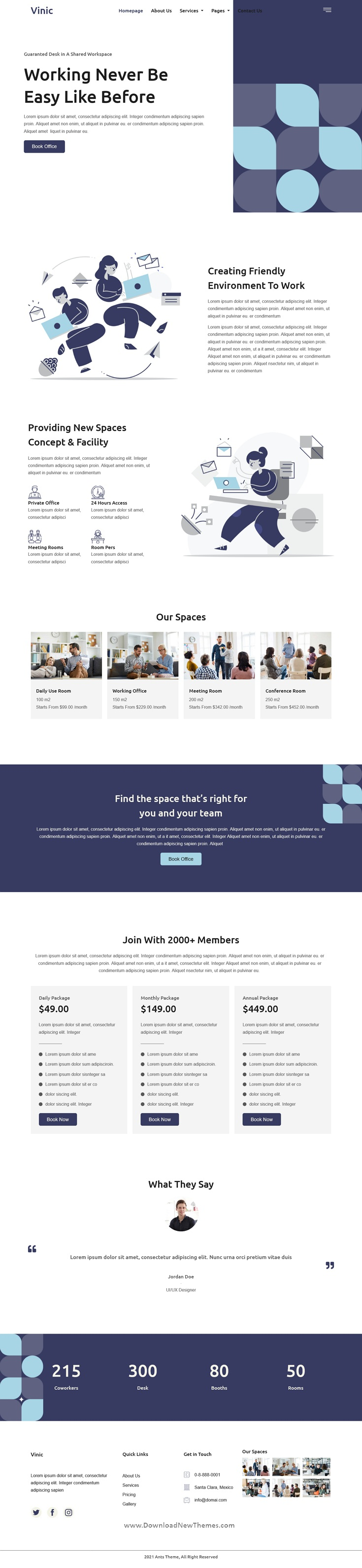 Coworking Space Elementor Template Kit