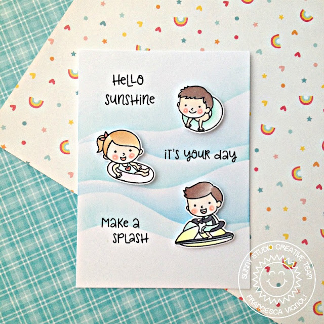 Sunny Studio Stamps: Beach Babies Hello Sunshine Card by Franci Vignoli