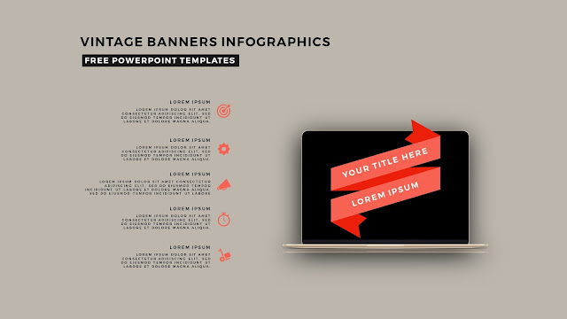 Vintage Banners Infographic Free PowerPoint Template Slide 8