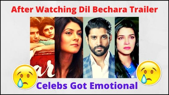 'Dil Bechara' trailer Celebs Got Emotional in Memory Of Sushant
