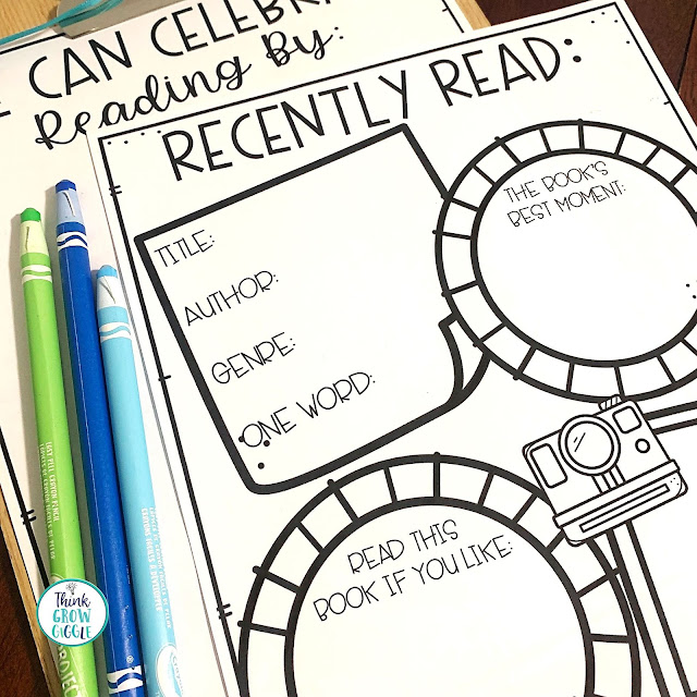 reading workshop book recommendation activity