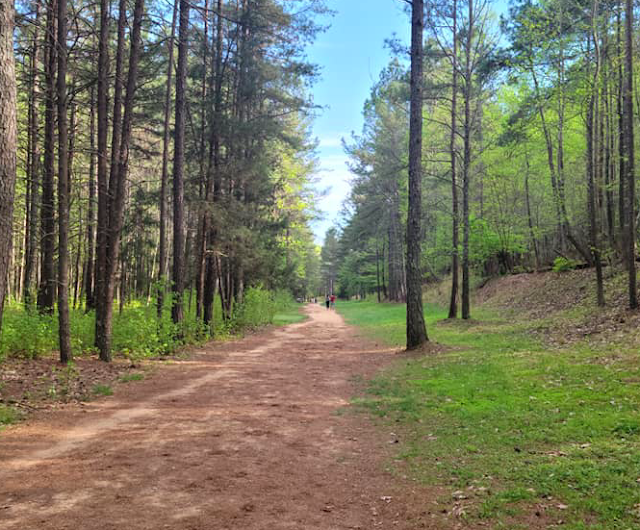 Imagine walking on this trail at Occoneechee Speedway and wondering about how drivers in the early days of NASCAR survived some of these turns