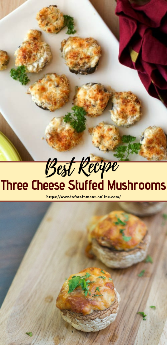 Three Cheese Stuffed Mushrooms #vegan #vegetarian #soup #breakfast #lunch