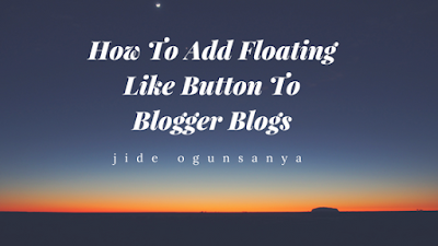 add floating facebook like button to blogger blog
