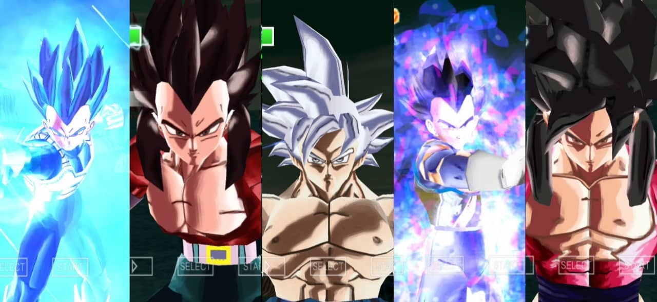All Transformations of Goku and Vegeta in XV2