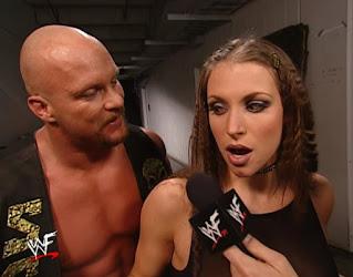 WWE / WWF Royal Rumble 2002 -Steve Austin sneaks up on Stephanie McMahon