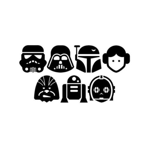 20 Plantillas de Star Wars.
