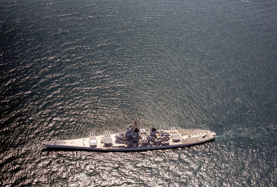 Asian Defence News: Spectacular aerial view of US Iowa-class