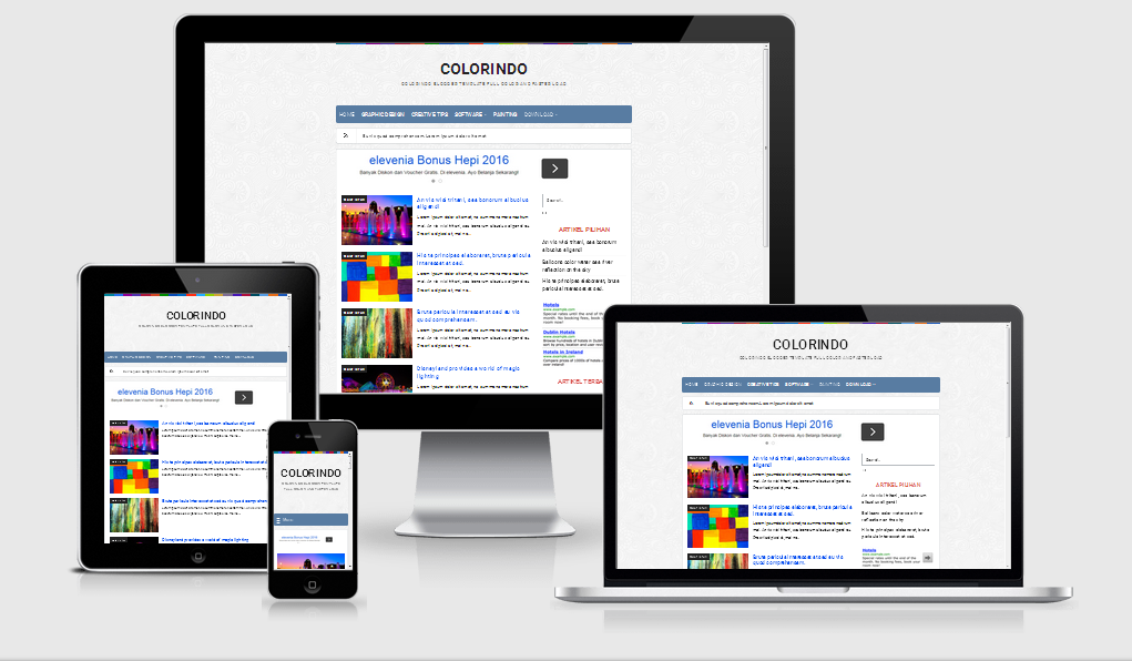 Colorindo - Template Blog Minimalis | Zet Design