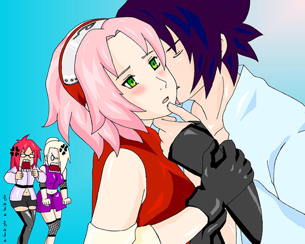 funny sasuke kiss sakura naruto shippuden wallpapers naruto