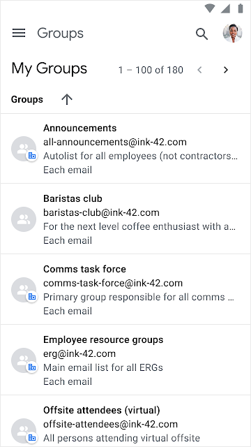 Improved mobile interface for new Google Groups 1