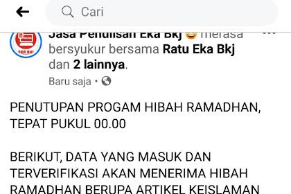 PENUTUPAN PROGAM HIBAH RAMADHAN 2020, TEPAT PUKUL 00.00