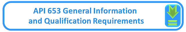 API 653 General Information  and Qualification Requirements