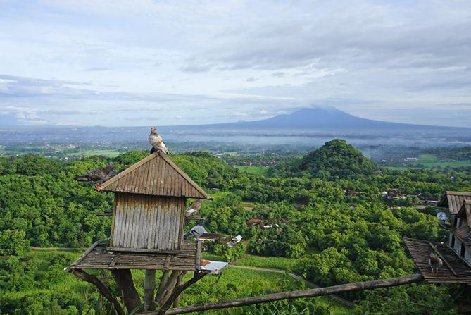 Gunung Merapi tampak dari Puncak Sosok