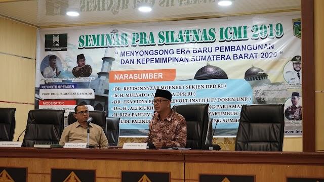 Riza Falepi Jadi Narasumber Seminar Pra Silatnas ICMI 2019