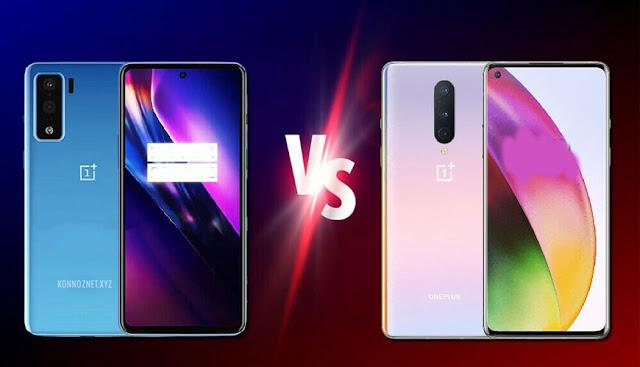 مقارنة بين OnePlus Nord و OnePlus 8
