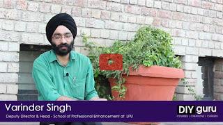Varinder Singh   Feedback on DIYguru Training & Upskilling