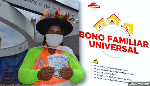 Bono Universal Familiar; segundo Padrón - LINK oficial: consulta con DNI si cobras el bono del Gobierno del Perú