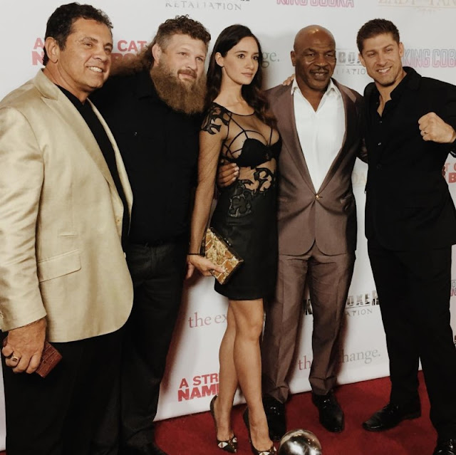 Sara Malakul Lane with Mike Tyson