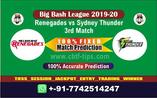 Who will win Today BBL T20, 3rd Match Renegades vs Thunder - Cricfrog
