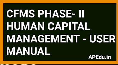 CFMS PHASE II - HUMAN CAPITAL MANAGEMENT - USER MANUAL